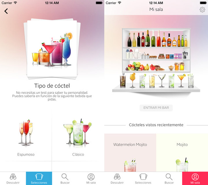 App Cocktail Flow