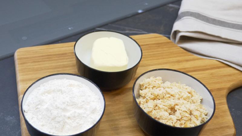 Ingredientes croquetas de pollo y jamón
