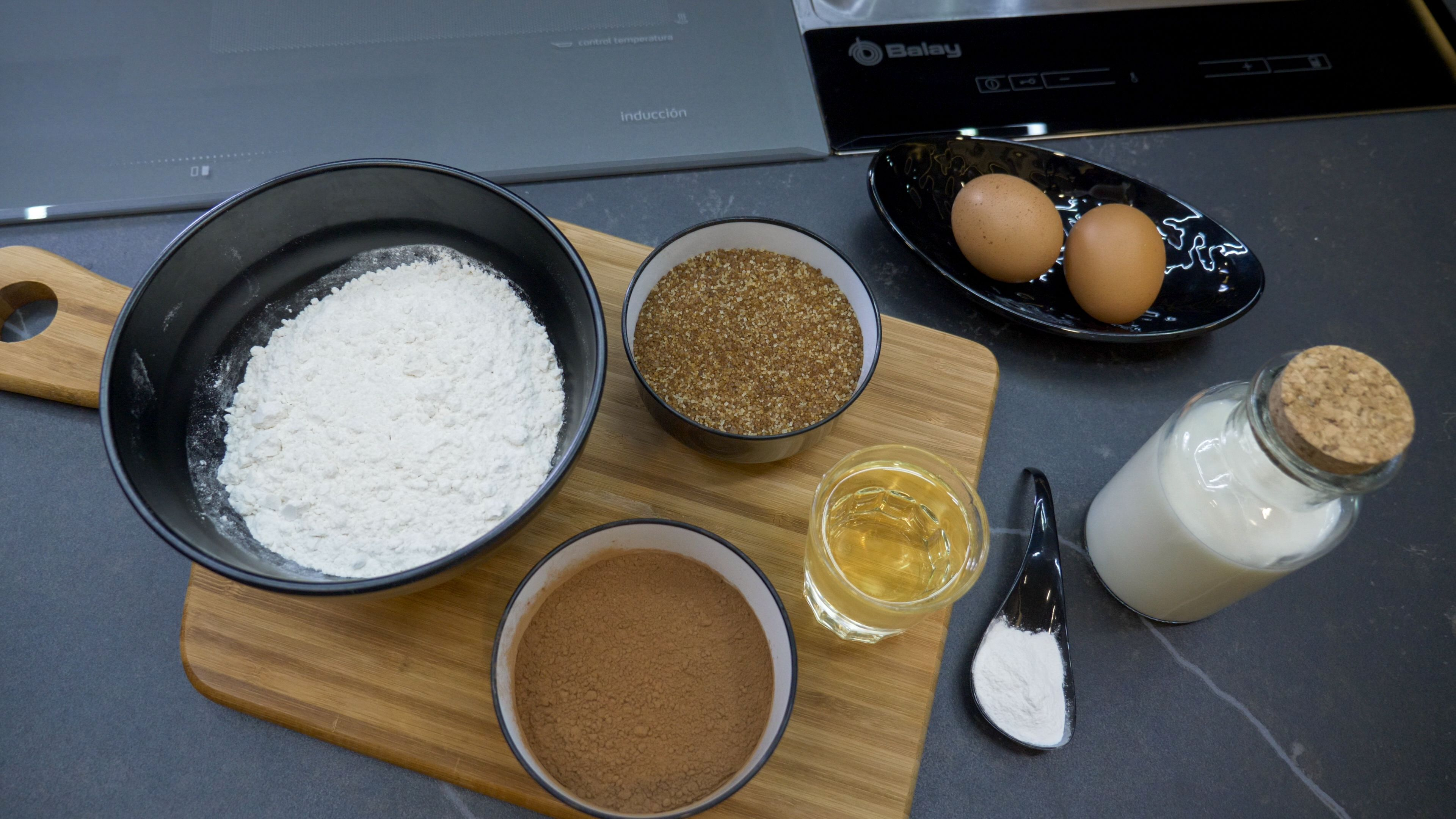 Ingredientes pastel de chocolate