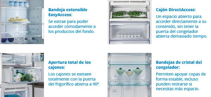 bandejas y cajones frigoríficos Balay