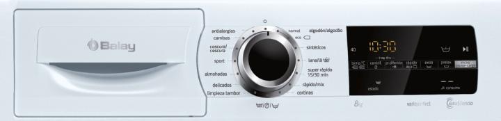 panel de funciones lavadora Balay