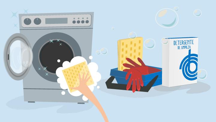 productos para limpiar la goma de la lavadora