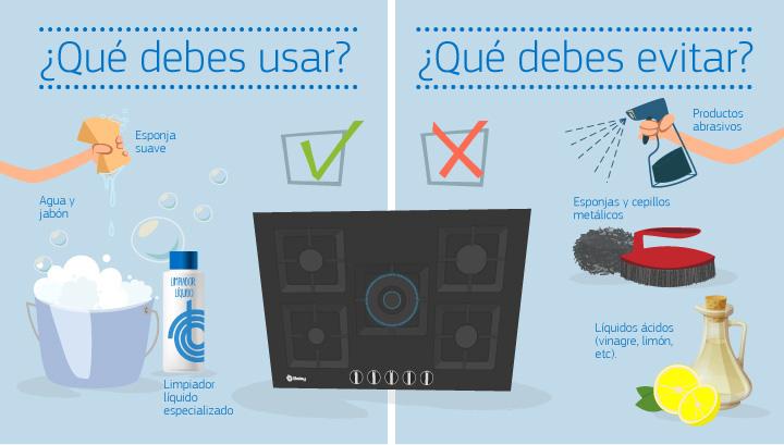 limpieza placas de gas