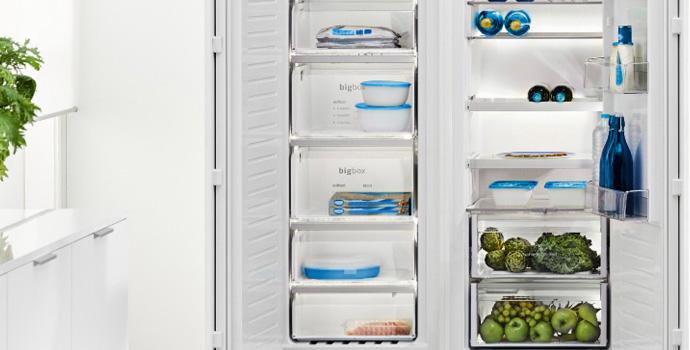 organización congelador balay