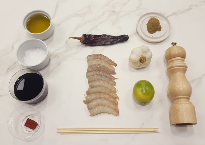 Ingredientes para una receta de camarones veracruzana