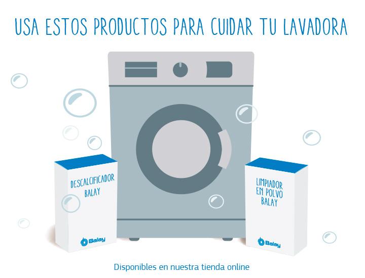 Productos de limpieza de la lavadora