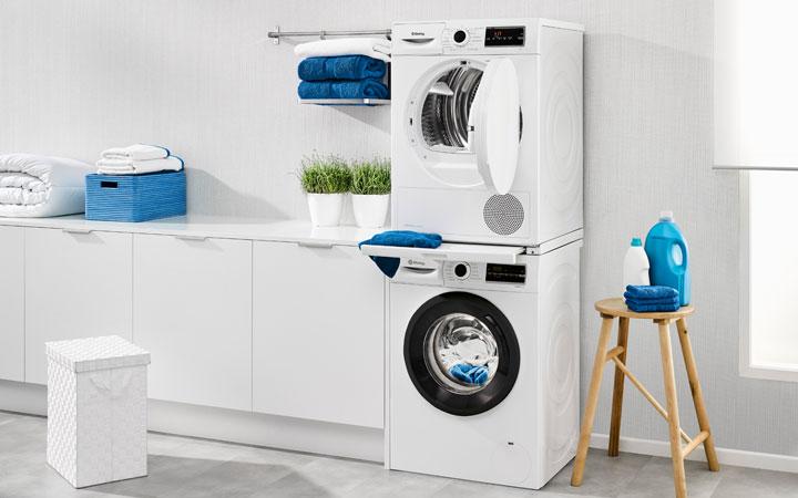 Secadora y lavadora Balay columna