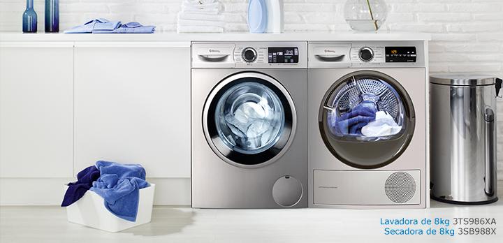 Pareja de lavadora y secadora Balay