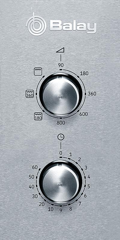 Microondas de control mecánico Balay