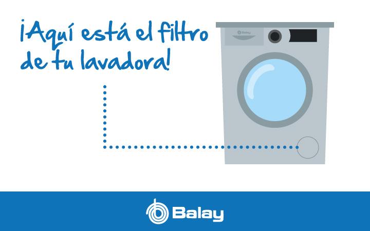 Dónde está el filtro de la lavadora