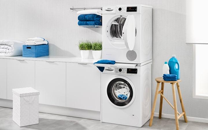 Medidas de torre de una lavadora y secadora