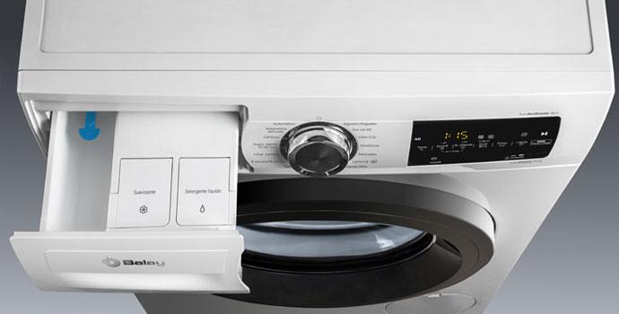 Dónde va el detergente en la lavadora